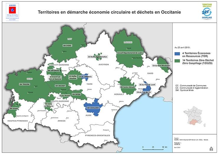 carte-territoires-demarche-economie-circulaire-dechets-occitanie