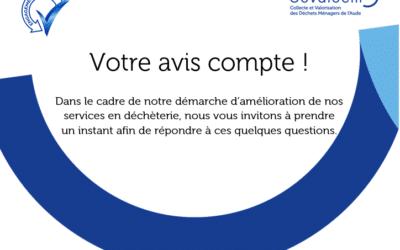 Questionnaire «services en déchèterie»